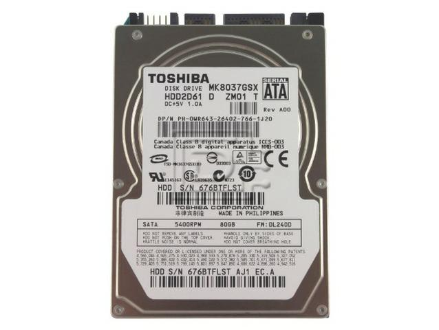 HD Toshiba sata 80gb