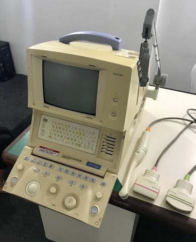 Aparelho de ultrassonografia portátil toshiba