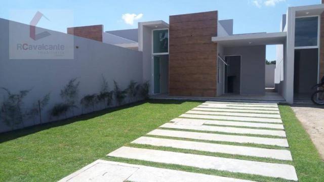 Casa Eusébio 03 quartos amplo terreno - Foto 2