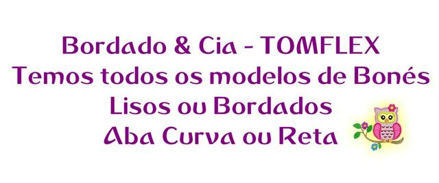 Boné Tomflex Liso - Preto - Aba Curva - Temos Todos Modelos ... f214d7427c013