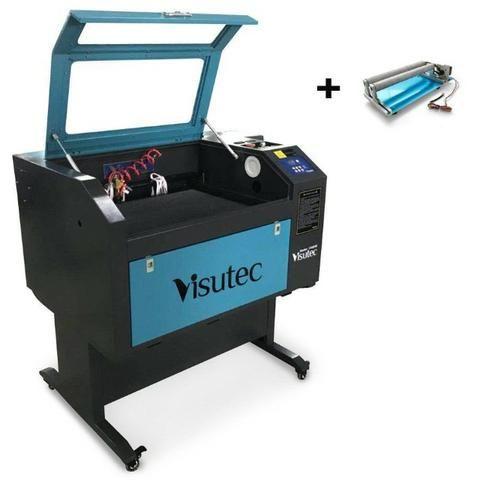 Máquina Router Laser cnc VS6040 Corte e Gravação Completa 60x40cm 60W Com Eixo Rotativo - Foto 2