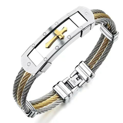 64d7c750da4 Pulseira Bracelete em cabo náutico banhado a ouro alta qualidade lindo  presente