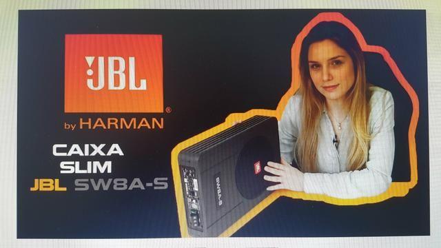 Caixa de som Slin JBL 8 polegas amplificada novinha - Foto 3