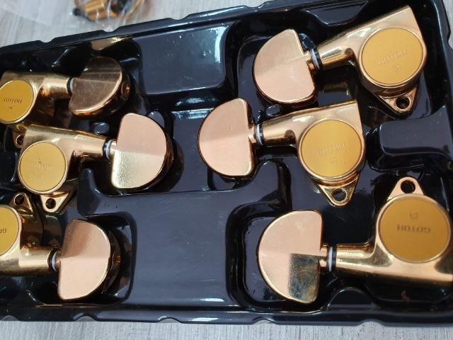 Tarrachas Gotoh Les Paul/Violão - Douradas - TOP!! - Foto 6