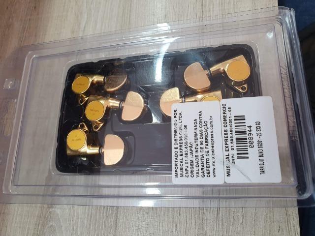 Tarrachas Gotoh Les Paul/Violão - Douradas - TOP!! - Foto 2
