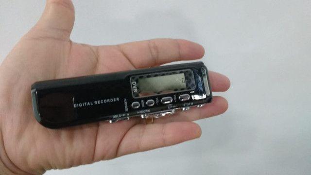 Mini gravador de voz digital DVR 8GB com MP3.  - Foto 4