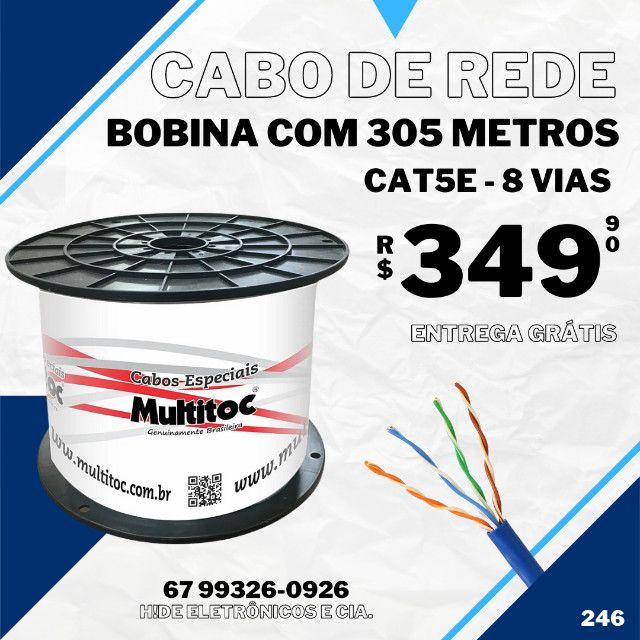 Cabo de Rede Cat5e Bobina com 305 Metros (entrega grátis)
