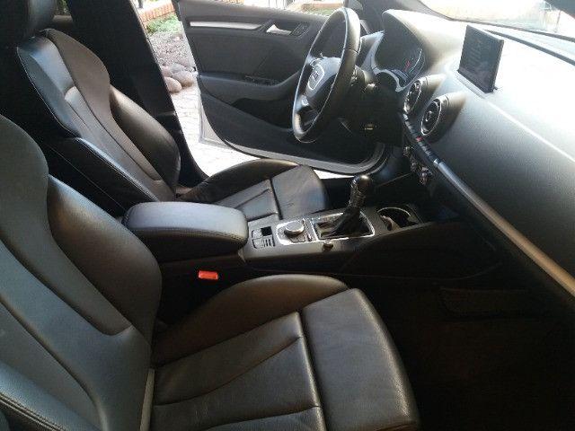 Audi A3 Sportback 1.8 Turbo FSI 2014 prata, automático, teto, couro - Foto 12