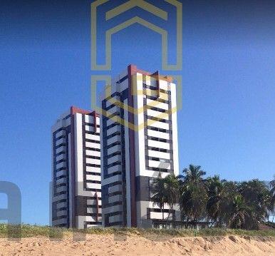 Apt beira mar pé na areia em Guaxuma, 2 quartos, 1 suíte, lazer completa só 327mil