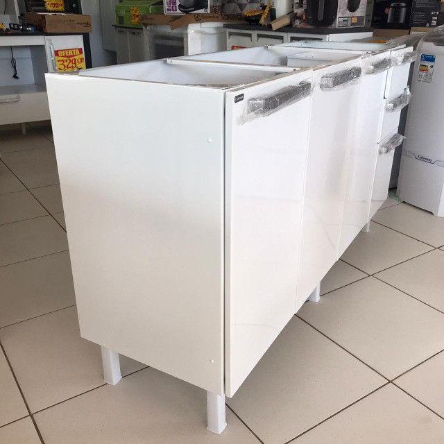 Gabinete de Cozinha Colormaq verona para Pia  de 1,60m em Aço - Foto 3