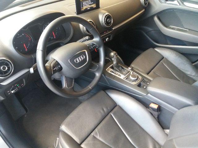 Audi A3 Sportback 1.8 Turbo FSI 2014 prata, automático, teto, couro - Foto 9