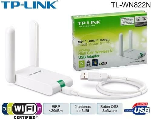 Adaptador Usb Tp Link Wn822n Wireless N 300mbps Wifi 2 Ant