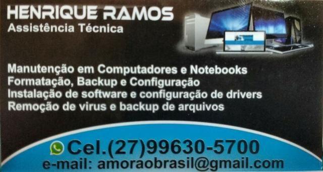 Manutenção de Computadores e notebooks