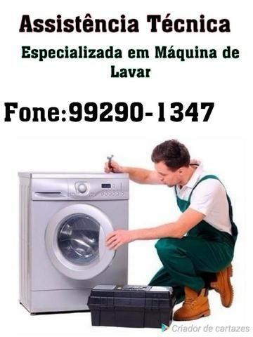 Conserto sua maquina em sua casa, com total segurança e garantia