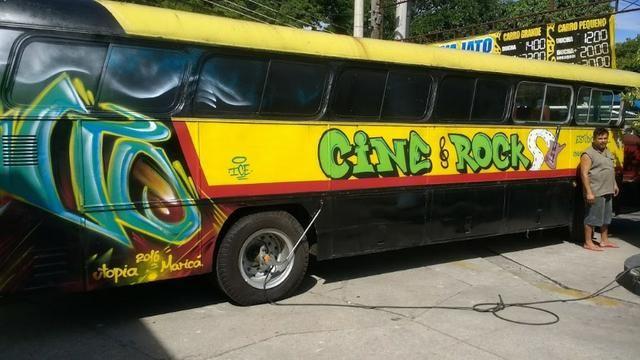 Ônibus Monobloco, mecânica ok e pneus novos - Troco por Van ou Carro do meu interesse - Foto 7