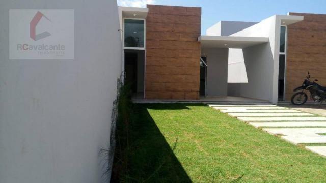 Casa Eusébio 03 quartos amplo terreno - Foto 3
