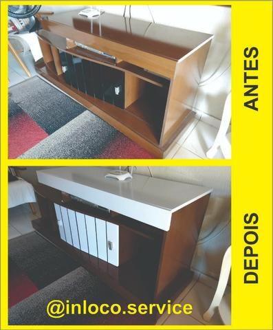 Envelopamento de Mesa, Móveis, Portas e Paredes - Foto 6