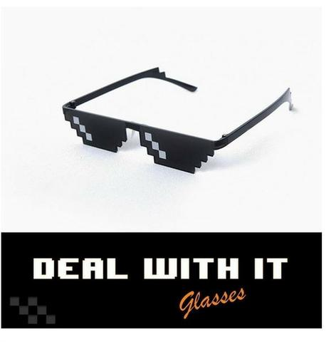 362597d1614cc Óculos Pixel Deal With It Meme Thug Life