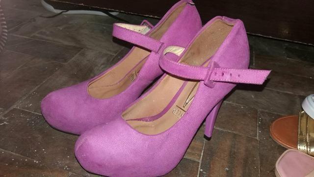 0675a7a64a Sapato usado rosa Vizzano N 34 Com salto Veludo - Roupas e calçados ...