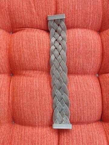 Pulseira prateada, fechamento magnético - Foto 5