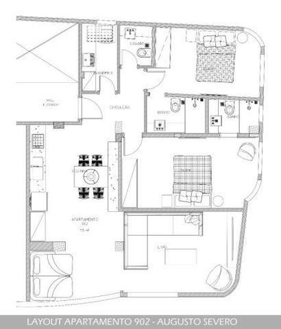 Apartamento 2 suítes 75m² na Av. Augusto Severo - Gloria - RJ Cod: FRAP20801 - Foto 3