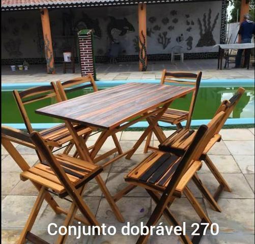 Conjunto de mesas c/ cadeiras - Foto 4