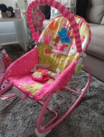 Cadeira de Descanso bebê Vibratória Princesas - Baby Style - Foto 2
