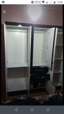 Guarda-roupa Casal 6 portas - 2,05m x 1,74m / 46cm de profundidade + Sapateira gratis - Foto 2