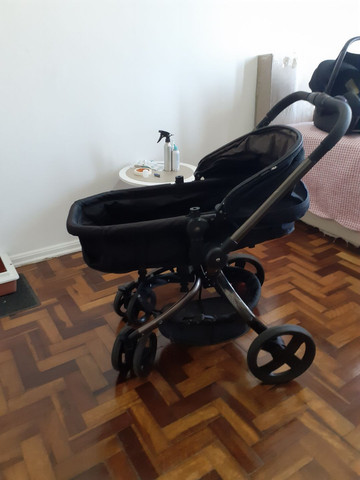 Carrinho Mothercare e bebê conforto Maxi Cosi - Foto 3