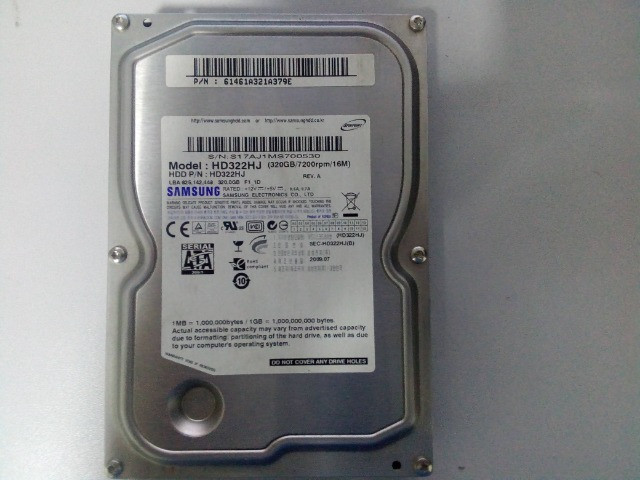 hd samsung - 320gb - 7.200 rpm