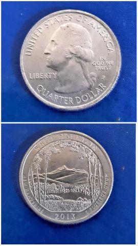 Moeda americana RARA quarter dollar White Mountain 2013 - Foto 3