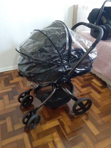 Carrinho Mothercare e bebê conforto Maxi Cosi - Foto 4