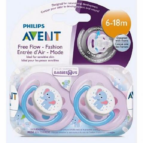 Chupeta Philips Avent Free Flow Fashion 6-18 m - Pacote com 2
