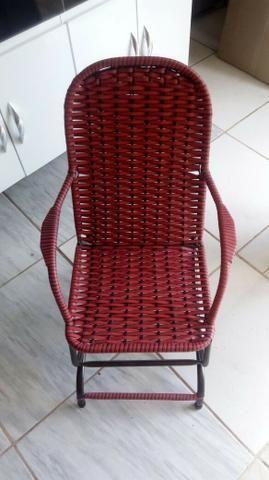 Cadeira de crianças de palhinha