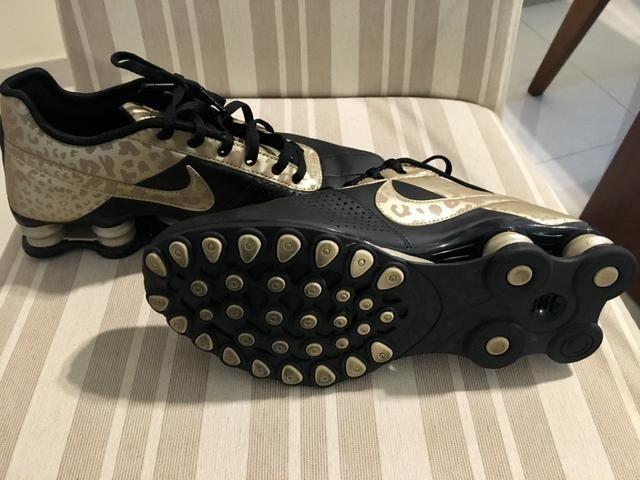 abb8cf21458 Tênis Nike Shox Deliver Couro feminino novo tamanho 37 original ...