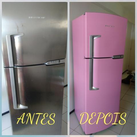 6471563e18 Envelopamento de eletrodomésticos geladeiras móveis parede.87737418 ...