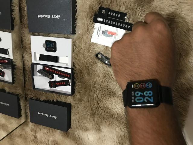Smart Watch Relógio Inteligente Sports Fitness+pulseira reserva - Foto 2