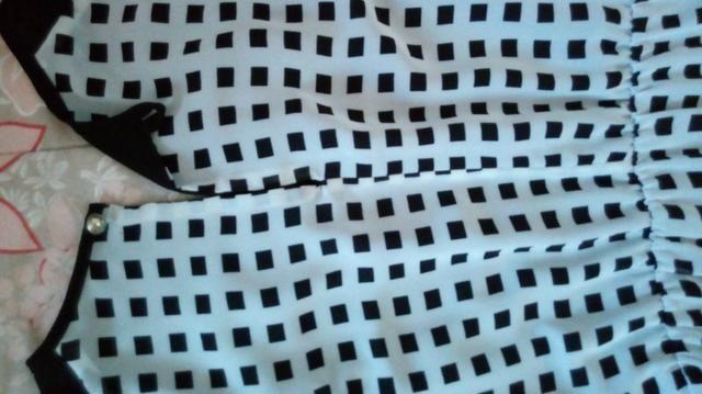 Vestido Estampado Quadricular - Foto 3