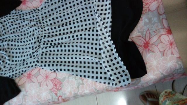 Vestido Estampado Quadricular - Foto 4