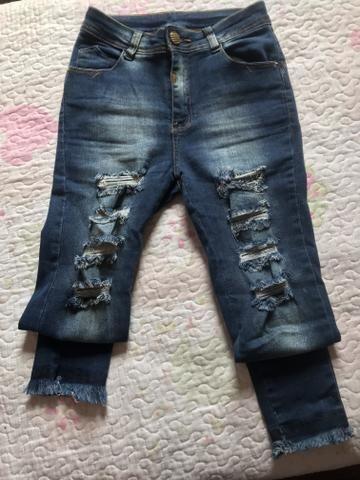 Calça Jeans despojada tamanho 36
