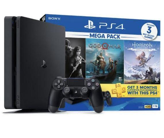 PS4 - PlayStation 4 - 1TB - Edição especial - 3 Jogos Novo