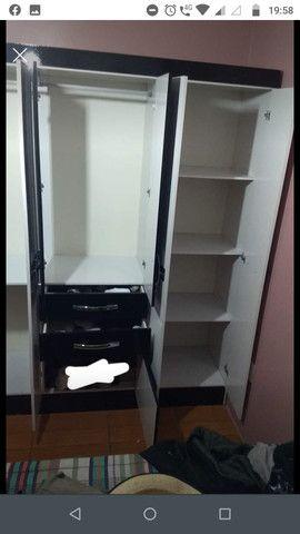 Guarda-roupa Casal 6 portas - 2,05m x 1,74m / 46cm de profundidade + Sapateira gratis