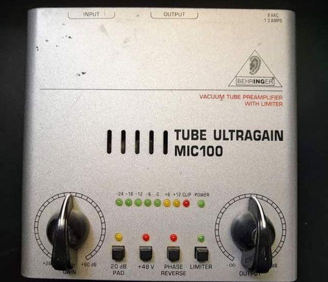 Behringer Mic 100 pré amplificador valvulado