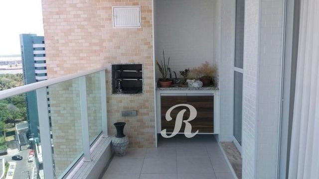 Lindo apartamento 110 m² 3 suítes varanda gourmet ar condicionado andar auto cond Terraço