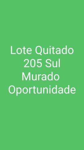 Lote Quitado Murado 205 Sul