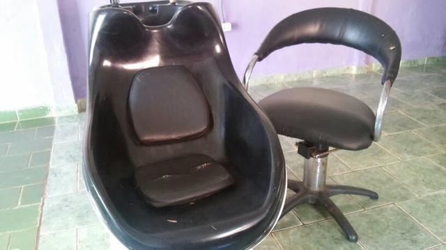 Cadeira e lavatório de cabelo