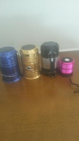 Lampião e caixa de som