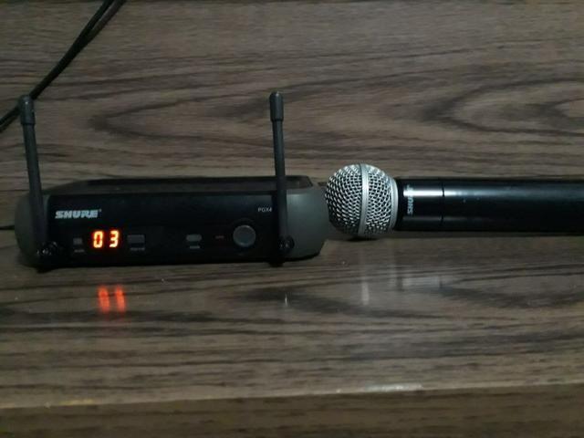VENDO Microfone Shure Pgx24 Sm58 Sem Fio Original