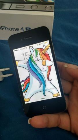 Iphone 4 zerado, vendo ou troco em outro celular
