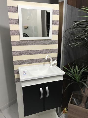 Promoção armario para Banheiro 100% MDF com Pia de Marmore Sintetico